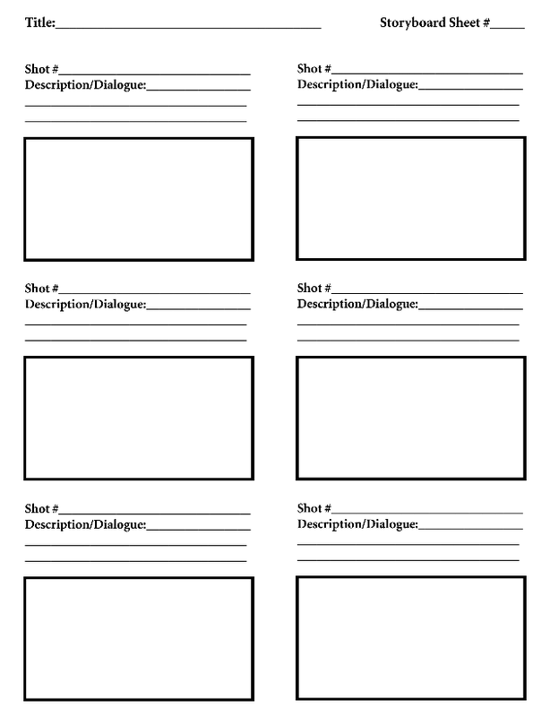 Storyboard Templates Mr Manions Classroom