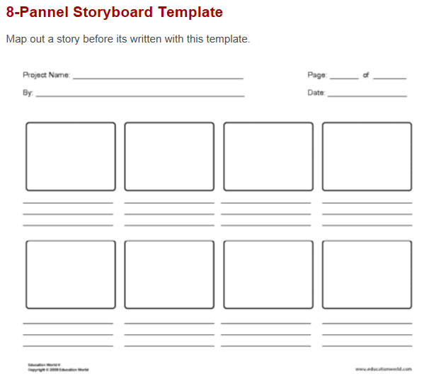 Storyboard Templates Mr Manion S Classroom